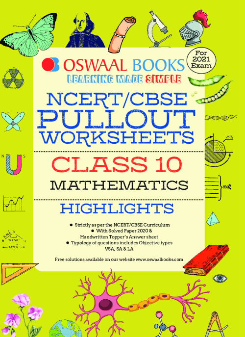 small resolution of Download Oswaal NCERT \u0026 CBSE Class 10 Mathematics Pullout Worksheets PDF  Online 2020-21