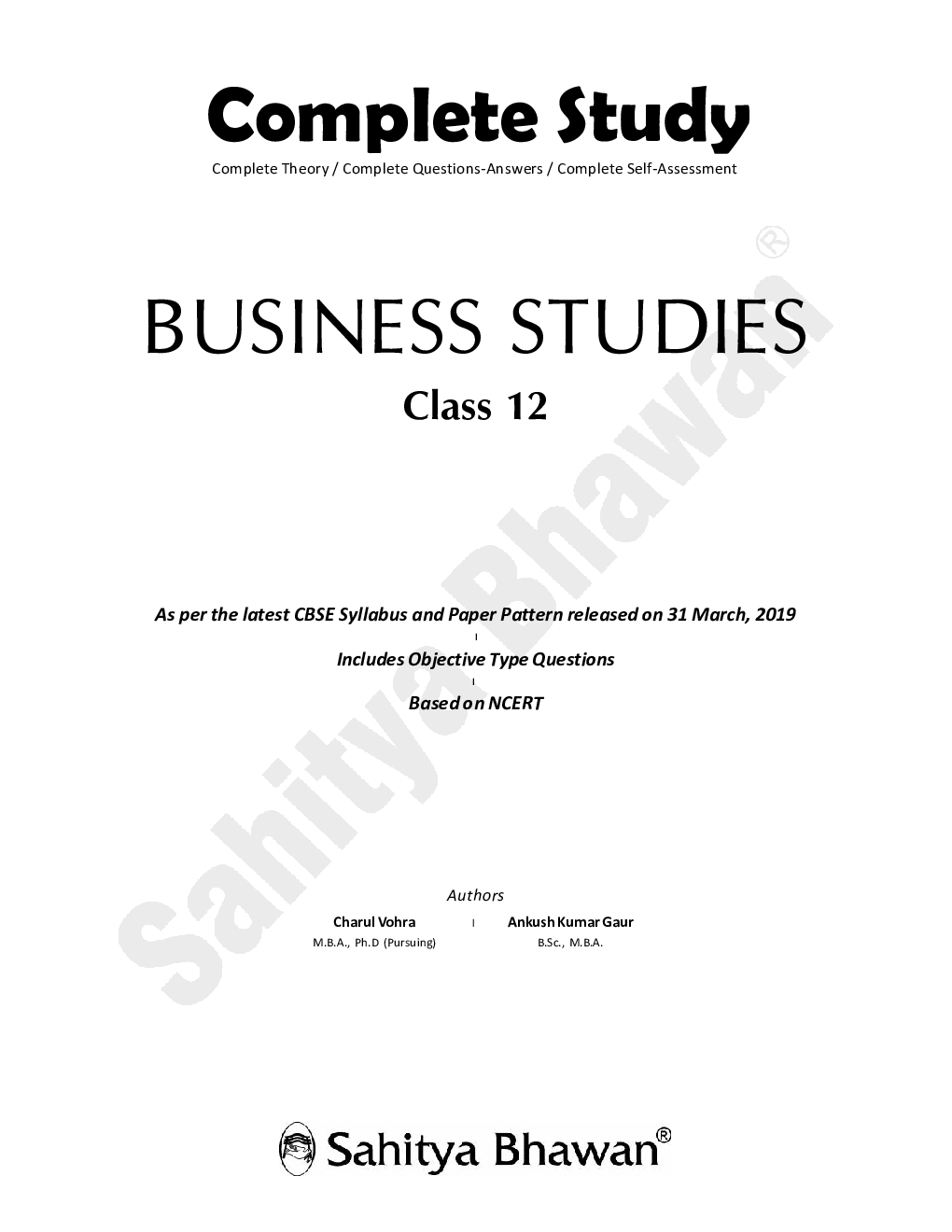 Download CBSE Complete Study Business Studies For Class 12