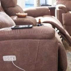 Power Reclining Sofa Made In Usa Fernando Corner Bed Reviews America La Z Boy Closeup Of