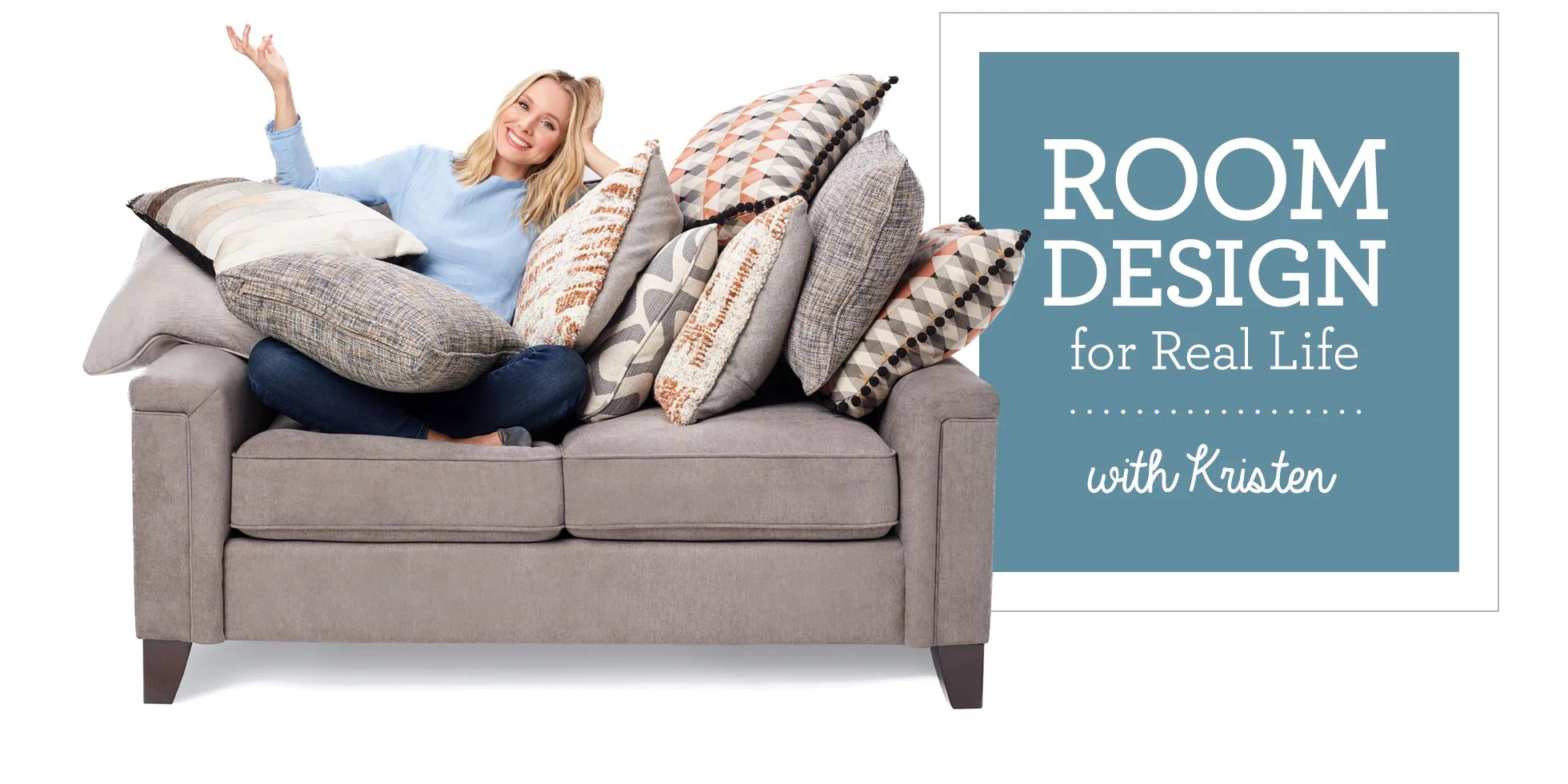 Lazy Boy Sleeper Chair Room Design For Real Life With Kristen Bell La Z Boy