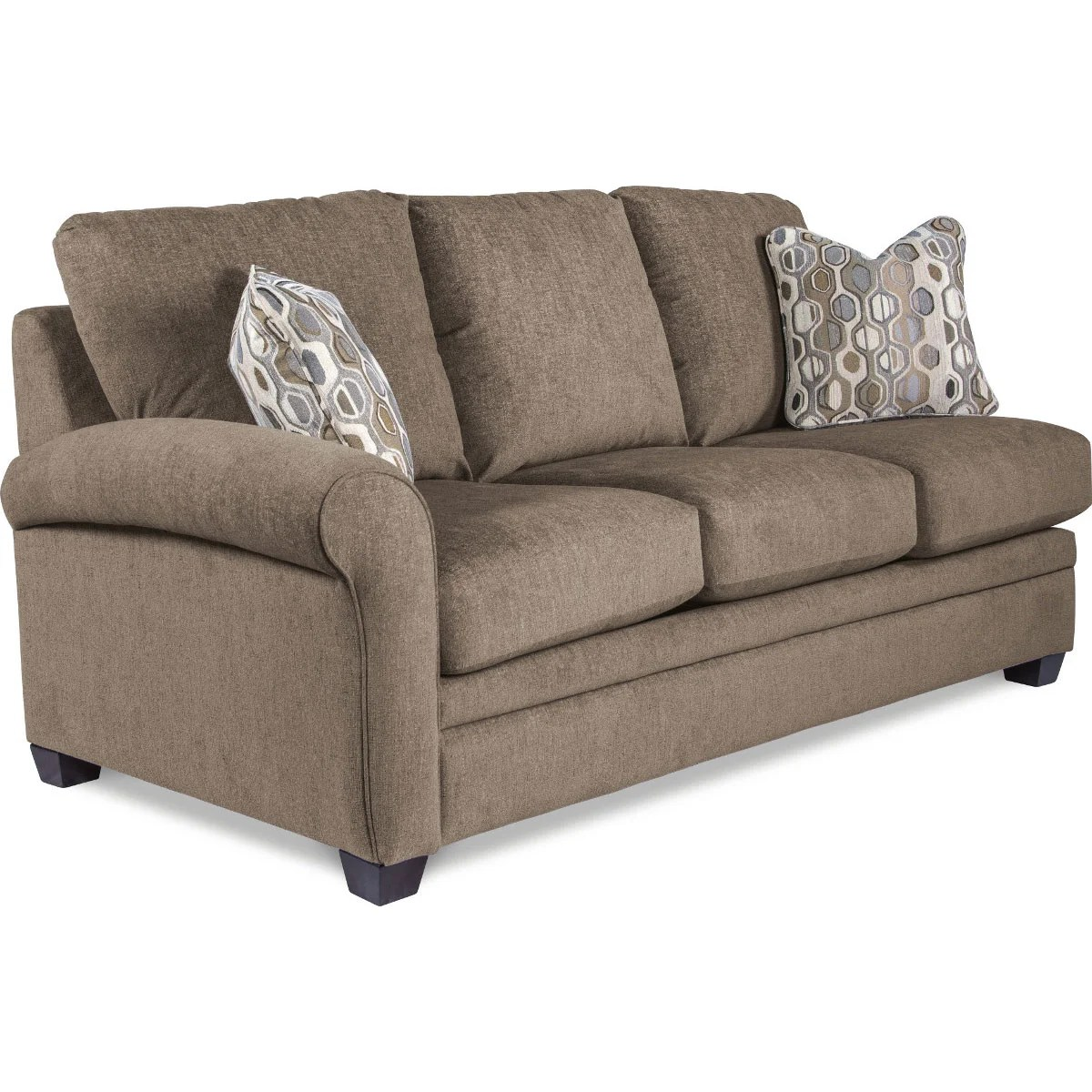 right arm sleeper sofa modern fabric sofas sydney natalie premier sitting queen sleep