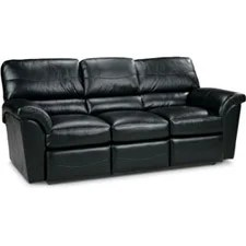lazy boy black leather reclining sofa decorating ideas for table reese la-z-time® full
