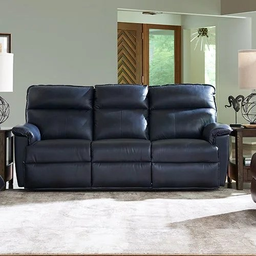 lazy boy black leather reclining sofa bed spring replacement jay la-z-time® full