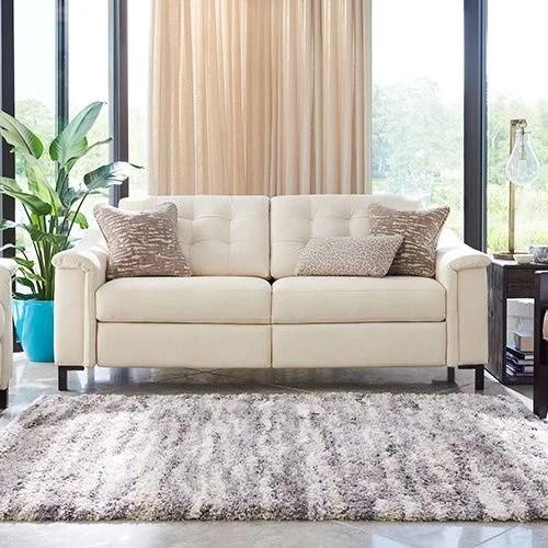 lazy boy reclining sofa leather black red white uk bed luke duo® 2 seat