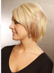 blonde bob side view
