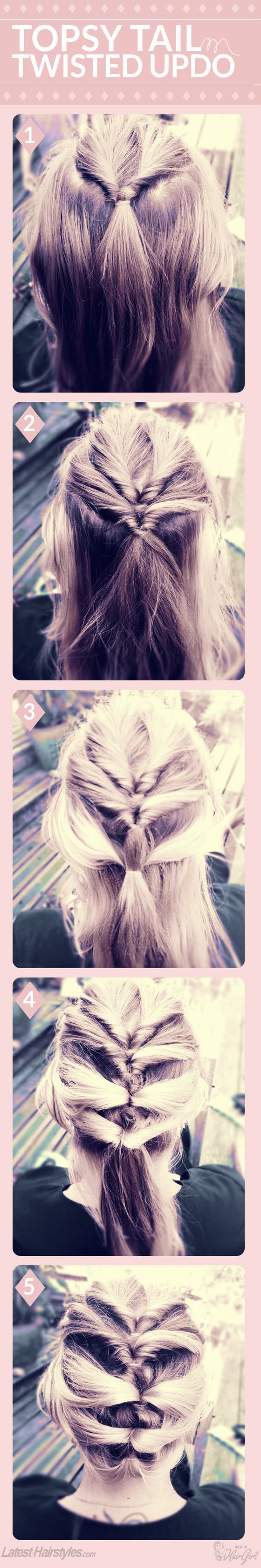 Topsy Tail-Inspired Twisted Updo Tutorial