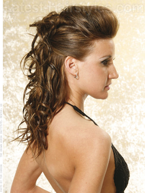 Half Up Tousled Easy Prom Style