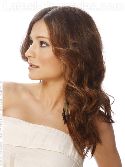 Soft Wave Stunner Easy Prom Hairstyle Side View