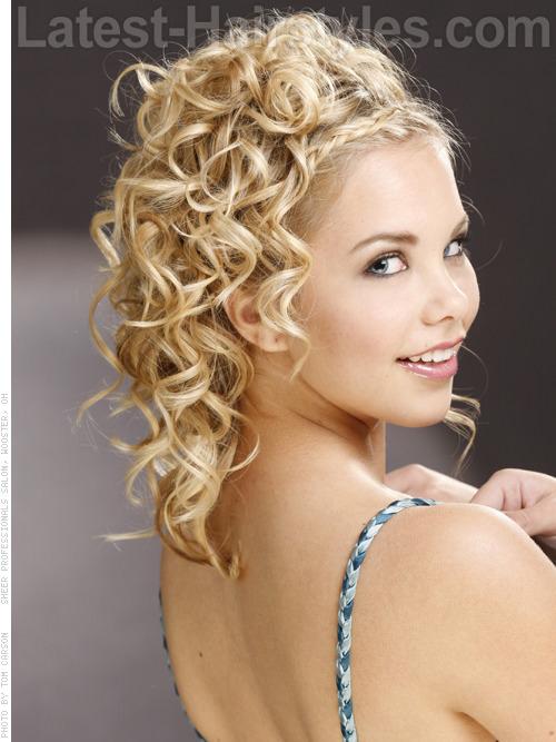 Ringlet Romance Elegant Braided Style for Prom - Front Braid
