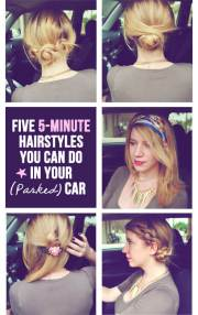 5 super quick & easy hairstyles