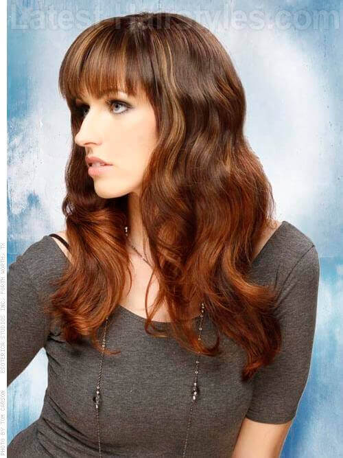 12 Sexy Hairstyles With Side Bangs Fringe Up Your Look!