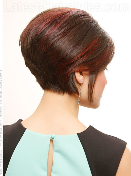 Faux Do Pretty Highlighted Party Hairstyle Back View