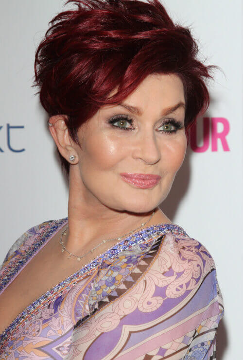 Osbourne In Short Hairstyle With Vivid Red Hair Color On Pinterest