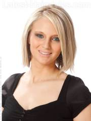 straight blonde bob hairstyle