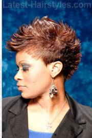 fun short hairstyle with spikes