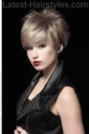 long pixie hairstyle with volume
