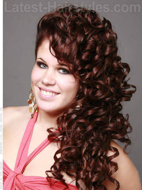 Updo With Pin Curls For Long Hair