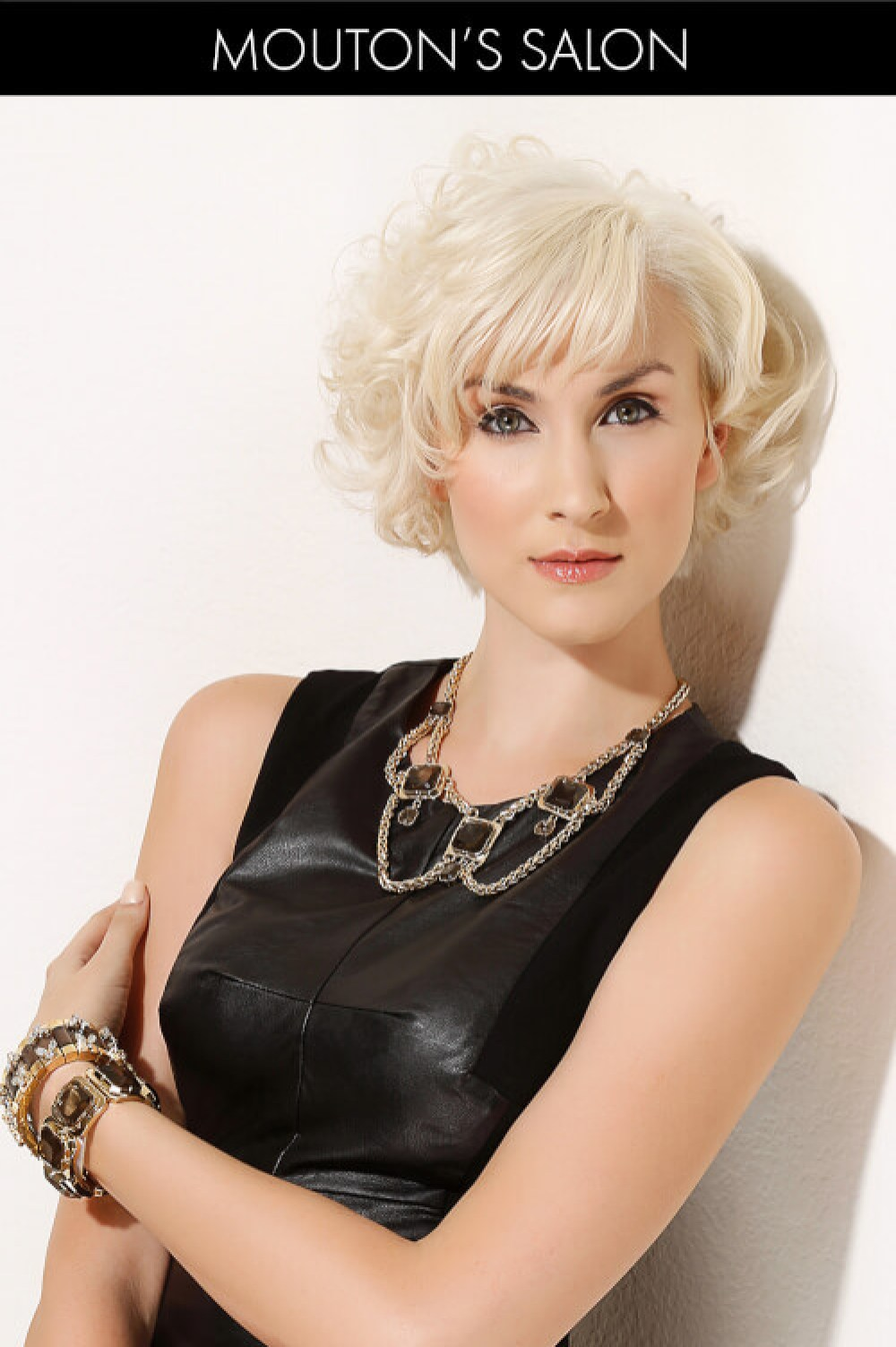 Short Blonde Hairstyle with Fringe