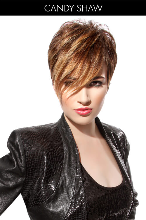 Short Hairstyle with Bangs and Highlights