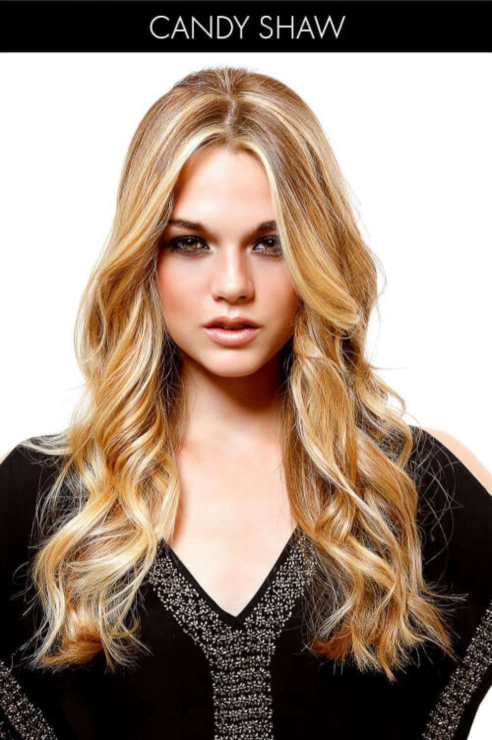 Long Hair with Waves and Highlights