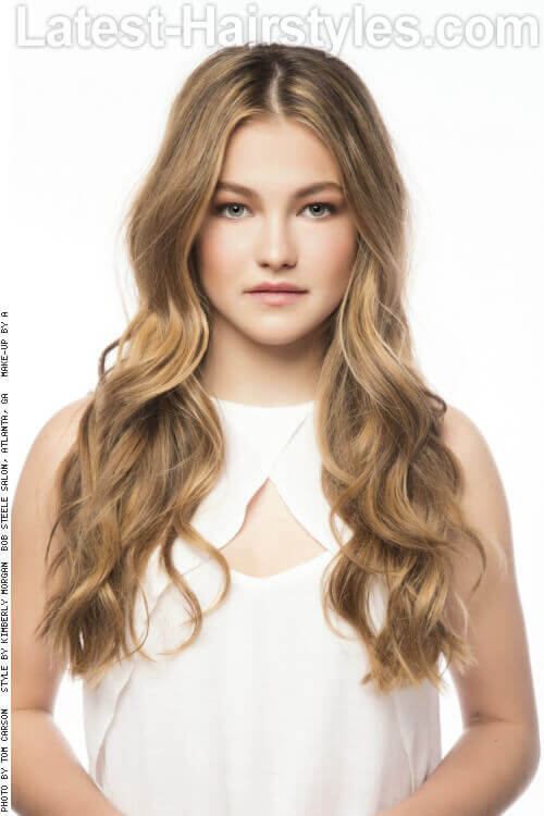 Long Party Hairstyle with Waves