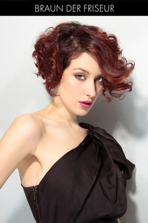 Short Bob Hairstyle with Curls