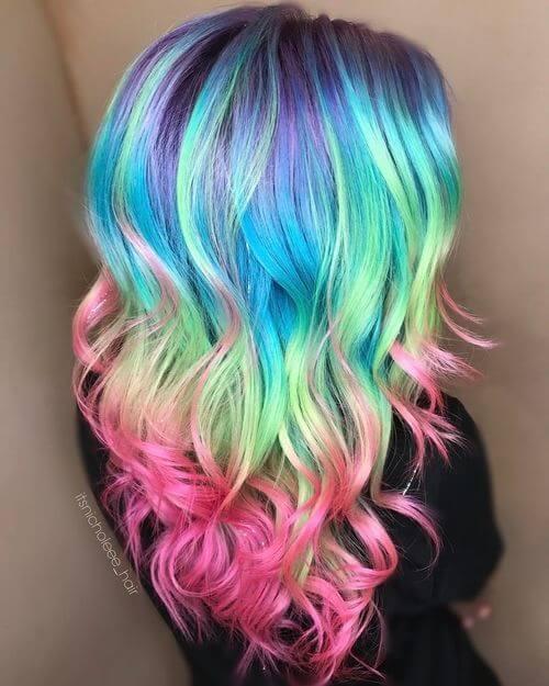 28 Cool Rainbow Hair Color Ideas Trending For 2018