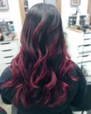 brilliant burgundy hair color