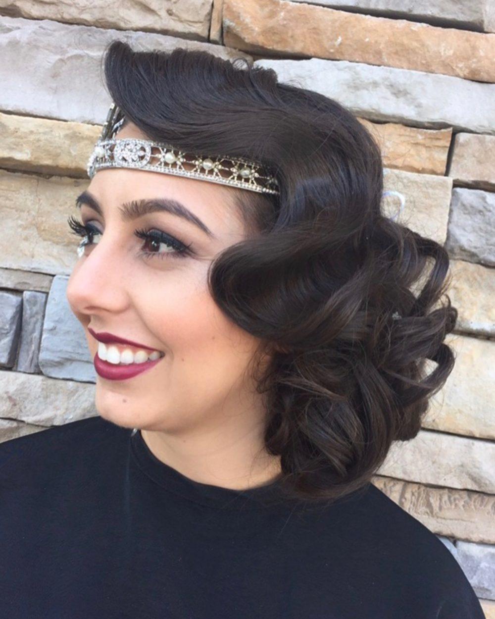 1920s Updo With Headband
