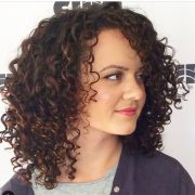 gorgeous medium length curly