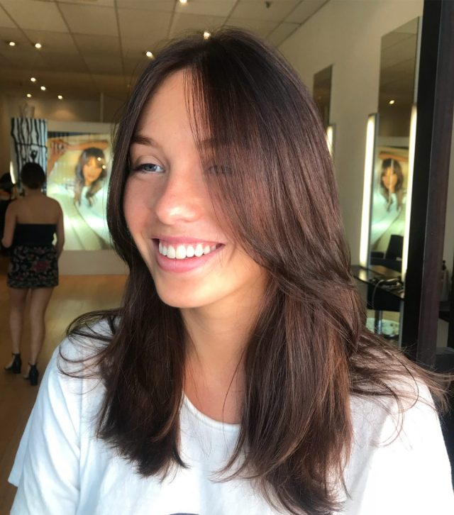 38 flattering examples of long hair with bangs