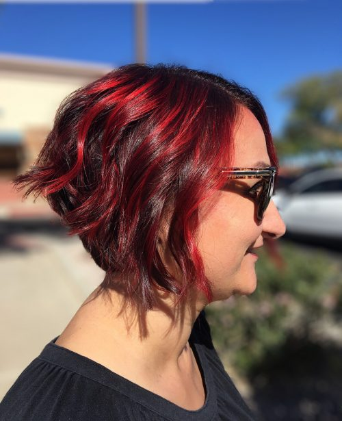 37 Best Red Highlights In 2019 For Brown Blonde Black Hair
