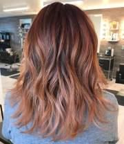 smoking-hot rose gold hair color