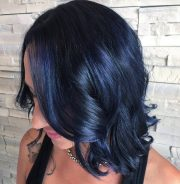amazing blue black hair