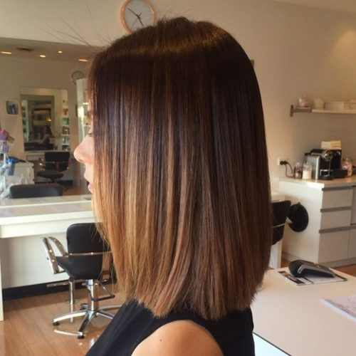 Shoulder Blade Length Haircut