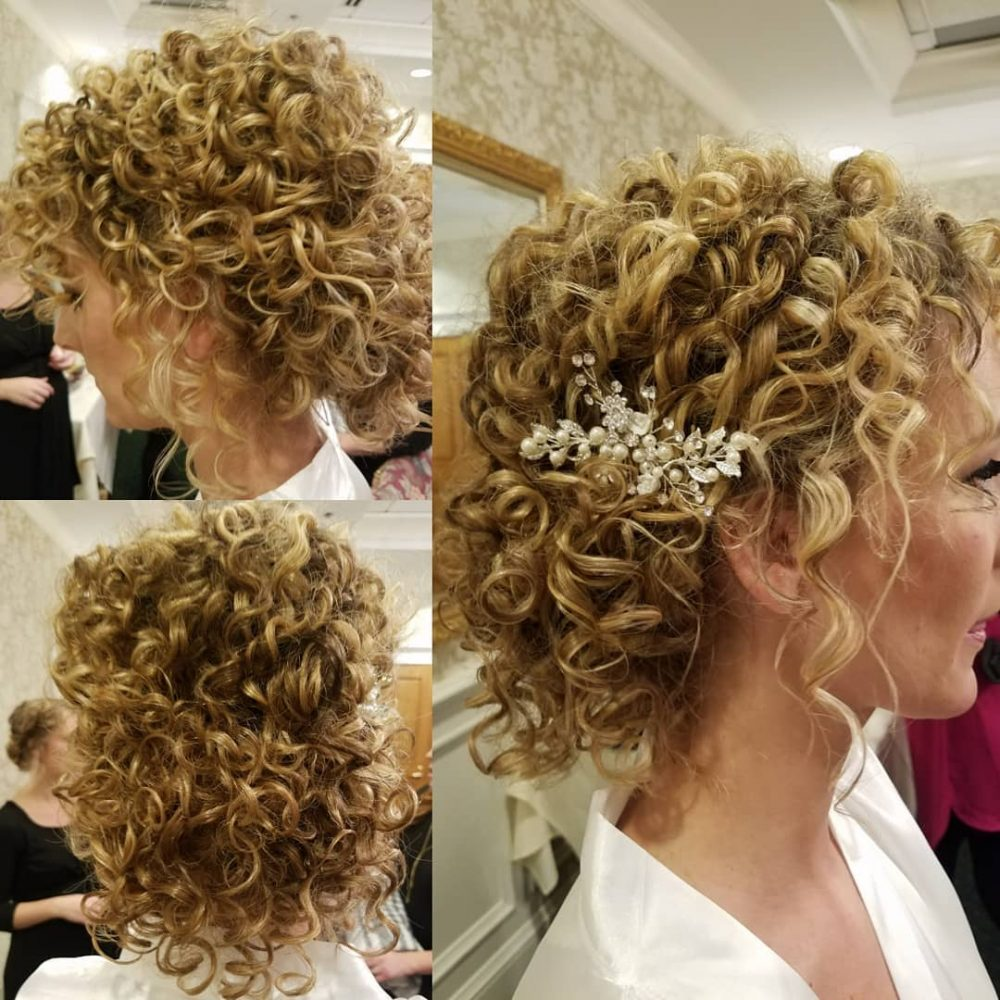 29 Easy Cute Updos For Curly In Trending In 2020