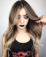 flattering middle part hairstyles