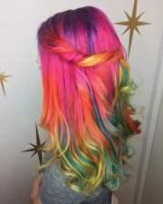 colorful rainbow hair ideas