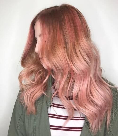 71 Smoking Hot Rose Gold Hair Color Ideas For 2018