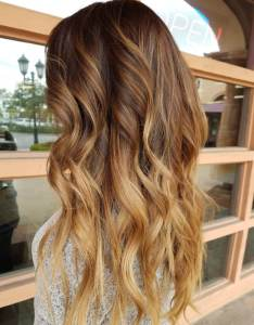 Warm toffee to honey ombre light brown hair color also colors that are blowing up in rh latest hairstyles