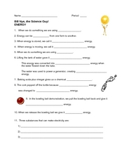 Bill Nye, the Science Guy: Energy 5th - 6th Grade ...