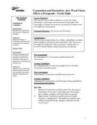 Connotation and Denotation: 8th Grade Lesson Plan   Lesson ...