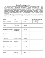 Counting Atoms 9th - 12th Grade Worksheet | Lesson Planet