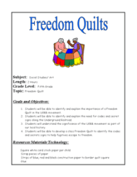 Freedom Quilts 5th Grade Lesson Plan | Lesson Planet
