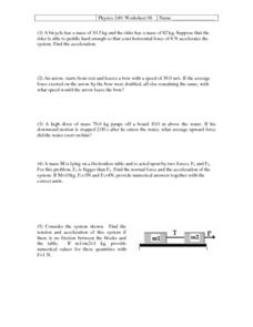 Physics 240: Worksheet 06Acceleration and Free Body
