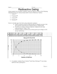 Radioactive Dating 9th - 12th Grade Worksheet | Lesson Planet