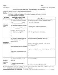 Regents Review Worksheet #1: Principles of the U.S ...
