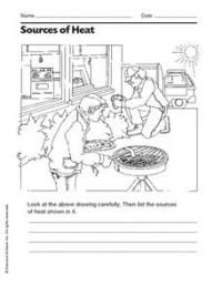 Sources of Heat 2nd - 3rd Grade Worksheet | Lesson Planet