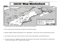 The French and Indian War Map Activity 4th - 5th Grade ...