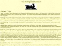 The Underground Railroad All Grades Lesson Plan | Lesson ...